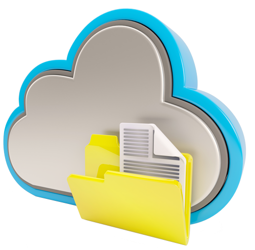 cloud with file